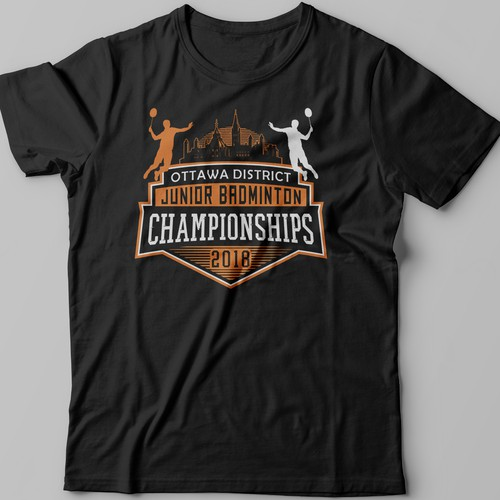 9b70bc57 Ottawa 2018 Badminton Championship T-Shirt Design | T-shirt contest