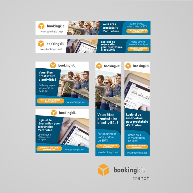 Create a banner set for a booking engine software for