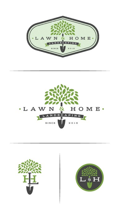 Landscaping, garden and home maintenance logo design ...