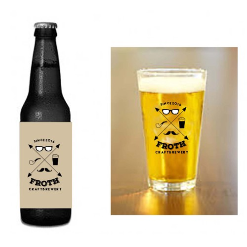 Create a distinctive hipster logo for Froth Craft Brewery Design by f.v.