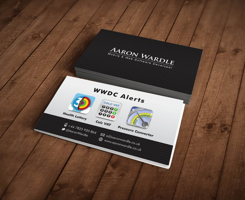 Create an awesome Business card for Mobile App Developer ...