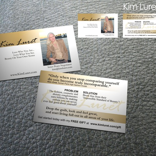 Business card design for woman motivational speaker stationery contest runner up design by sadzip reheart Choice Image