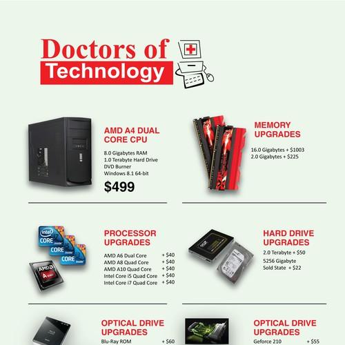 Custom Computer Price List | Postcard, flyer or print contest