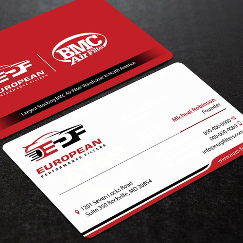 Create a business card for an exotic car performance air filter runner up design by mourad chorfy colourmoves