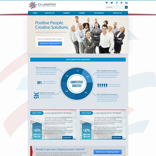create the next website design for cv logistics www cvlog com