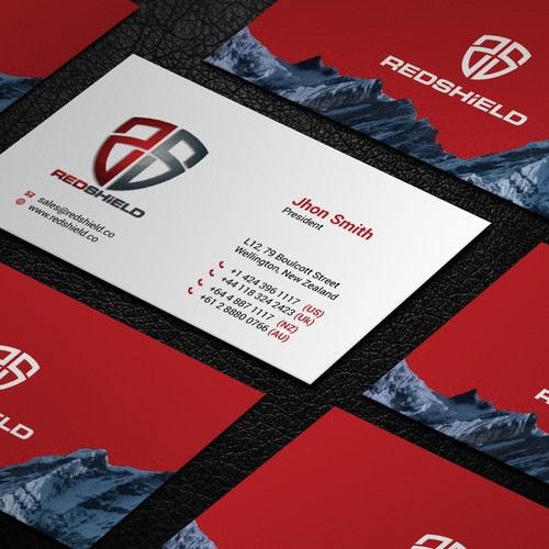 Design a business card for an innovative cyber security company design finalista por kaylee ck reheart Images