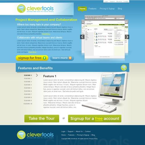 Web 2 0 Design For Saas Project Management Software Web Page Design Contest 99designs