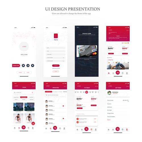 Runner-up design by UXstudios