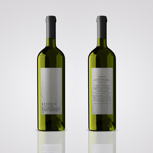 Minimalistic wine label needed Design by Alem Duran