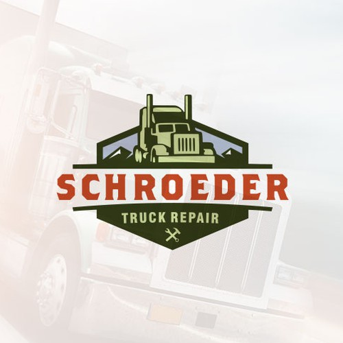 design an awesome new logo for a semitruck repair company