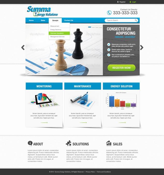 Winnend ontwerp van Web UI Design