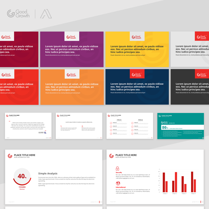 Design a colourful and engaging presentation template for for Disenos de powerpoint