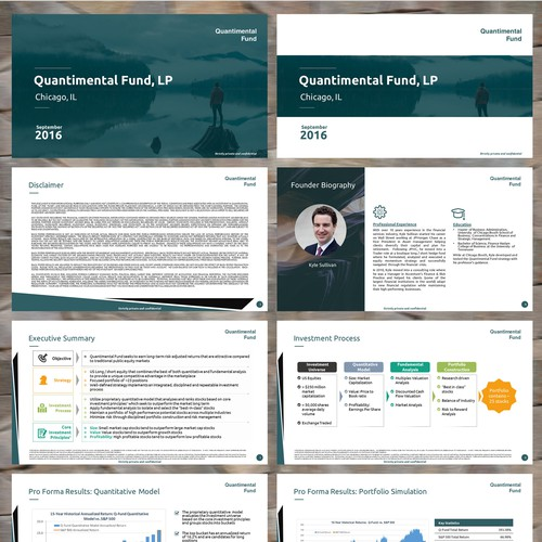 Modern Template For New Cutting Edge Hedge Fund Powerpoint Template Contest 99designs