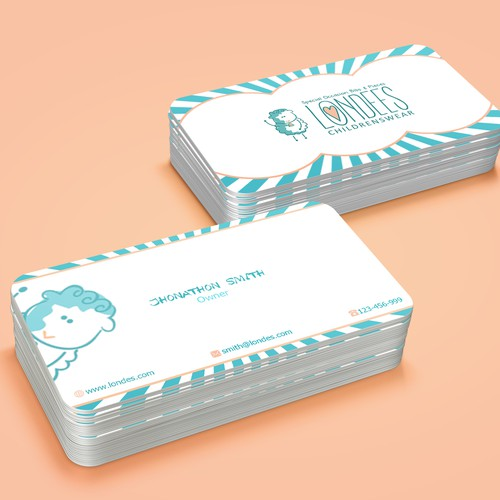 Create business card for luxury online baby boutique Design by VIVID_Design.