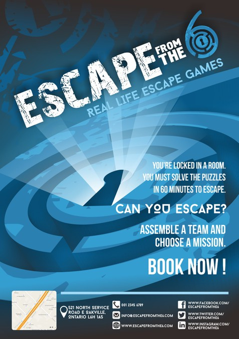 X Escape Room Flyer