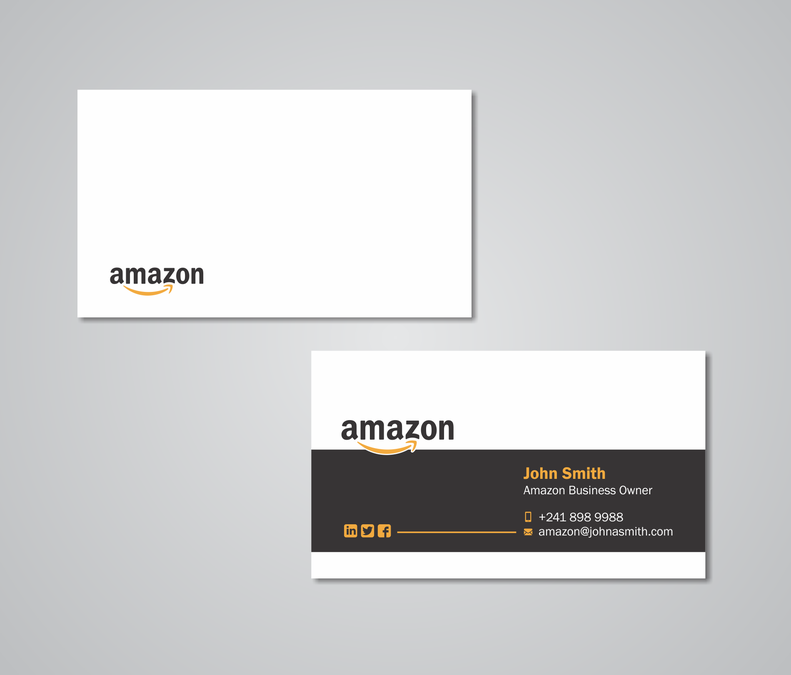 Business card design for amazon business owner business card contest business card design for amazon business owner colourmoves