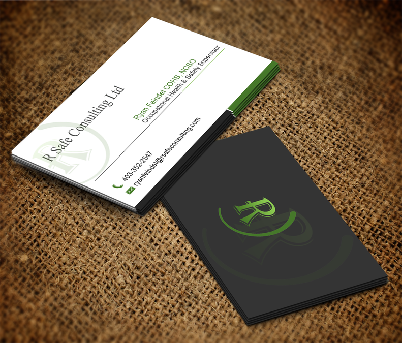 Design an attractive business card for a safety company business winning design by mary jhon reheart