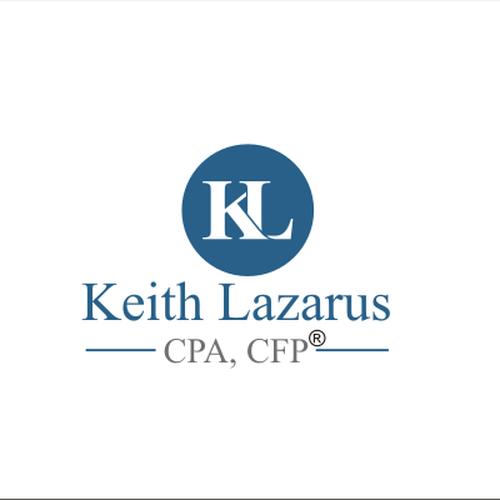 logo for keith lazarus cpa cfp174 concurso design de