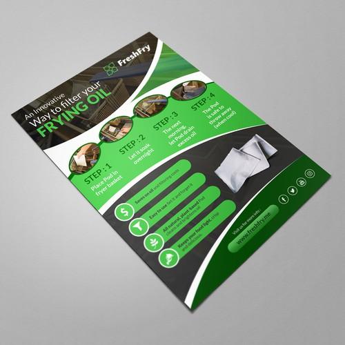 FreshFry Pod Flyer Ontwerp door idea@Dotcom