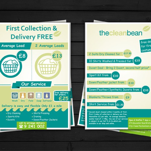 Flyer design for our new laundry delivery service to promote our runner up design by dyan saputra pronofoot35fo Image collections