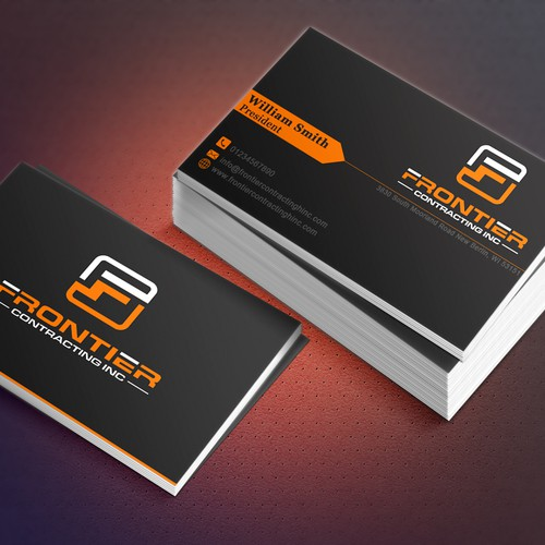 Simple but attractive business card business card contest runner up design by mihad colourmoves Gallery