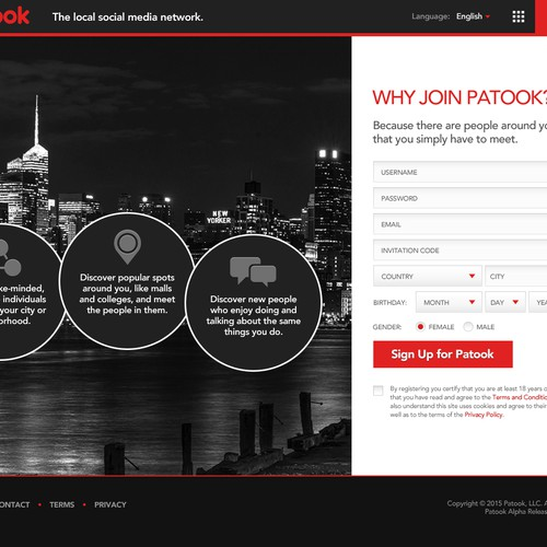 Redesign patook com's homepage  | Web page design contest