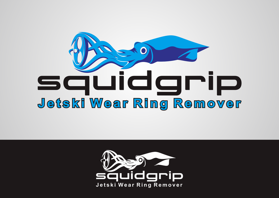 SquidGrip the Jetski Wear Ring Remover | Logo design contest