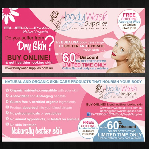 New double sided DL Flyer design needed for natural and organic body ...