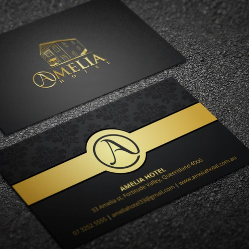 Amelia hotel business cards business card contest runner up design by designv colourmoves