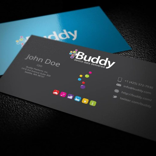 Gorgeous business cards needed for buddy business card contest runner up design by genesissign colourmoves