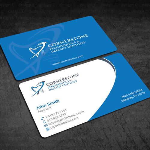 Dental business card needed to match logo concurso carto de visita design finalista por designc reheart Choice Image