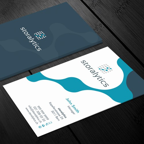 Retail analytics company needs simple business cards business card runner up design by xclusive16 colourmoves