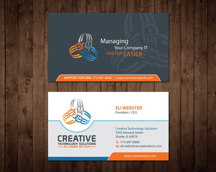 Creative business card for creative tech concurso carto de visita creative business card for creative tech reheart Images