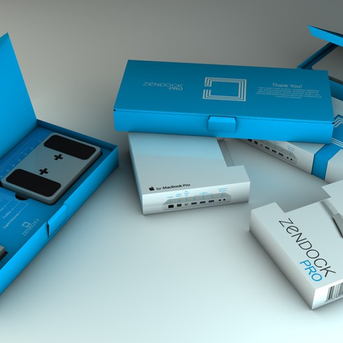 Zenboxx - Beautiful, Simple, Clean Packaging. $107k Kickstarter Success! Design by Alex De Lilla