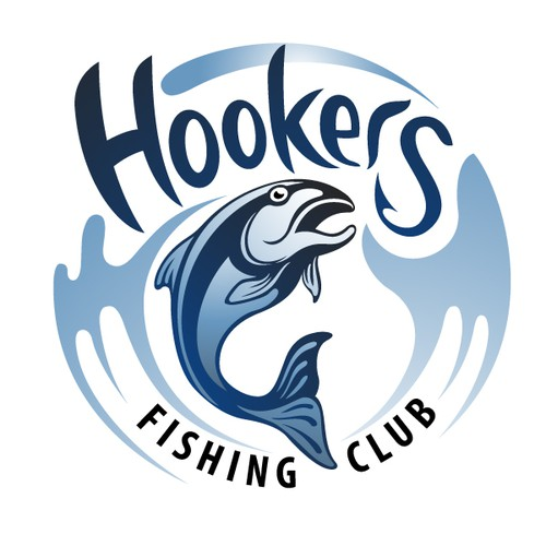 create the next logo for hookers fishing club logo
