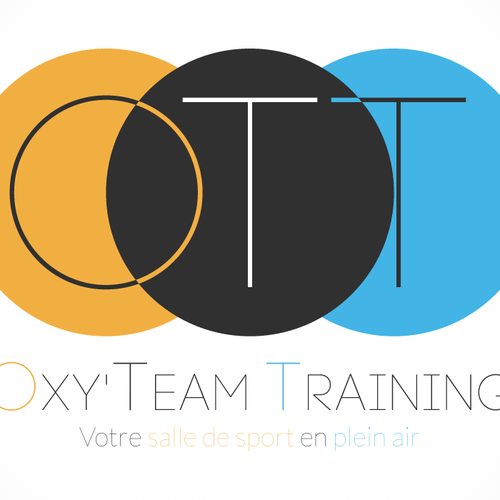 cr er un logo illustrant une salle de sport en plein air pour oxy 39 team training logo design. Black Bedroom Furniture Sets. Home Design Ideas
