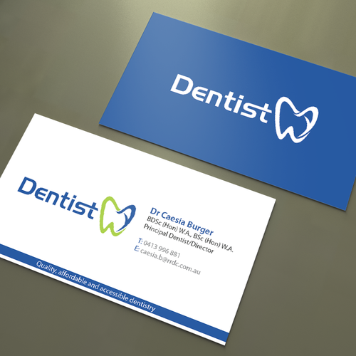 Create professional cards for our dental business business card runner up design by an designer colourmoves