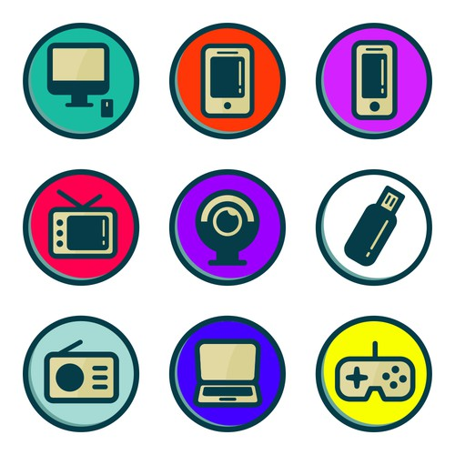 Retro Design Bank.Fun Retro Gamer Power Bank Sticker Pack Series Other Design