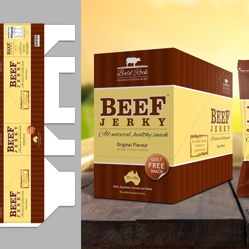 Beef Jerky Packaging/Label Design Design by g3mrk