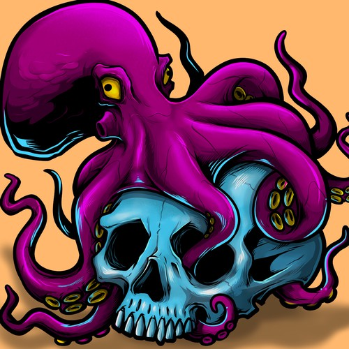 Octopus On Skull For Album Cover Illustration Or Graphics Contest 99designs