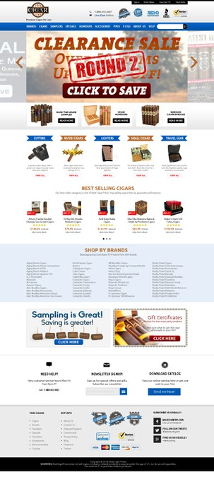 Create a Modern Homepage for a Cigar eCommerce Website