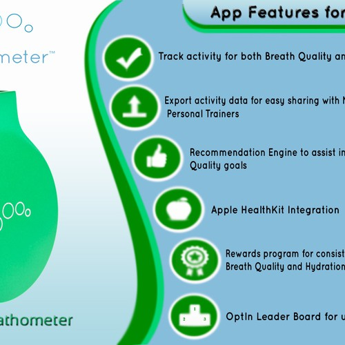 4 HOUR CONTEST - Mint by Breathometer - Indiegogo campaign banner design! Design by hama89
