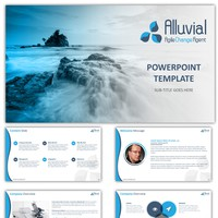 Dazzling PowerPoint Template for innovative software startup