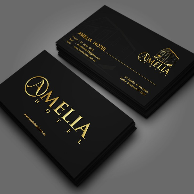 Amelia hotel business cards business card contest amelia hotel business cards winning design by mehedigd colourmoves