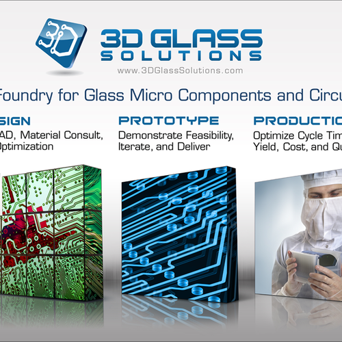 3D Glass Solutions Booth Graphic Design by torvs