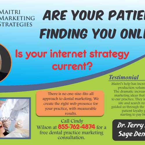 Magazine Ad for On-line Marketing company for Dental