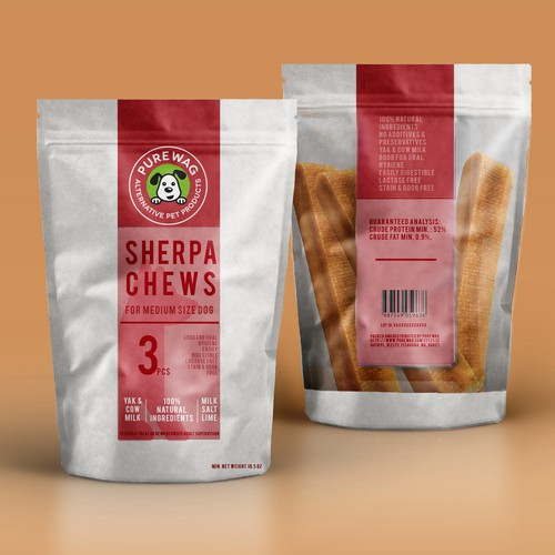 Purewag - Pet Products Packet Design Design by Ilaria Grasso