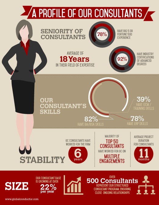 F500 consultant experience profile for a management for Experience design consultant