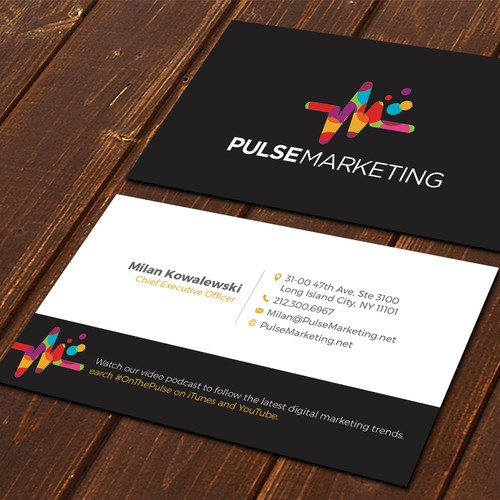 Create eye catching professional business card for digital runner up design by ssdesigns colourmoves Image collections