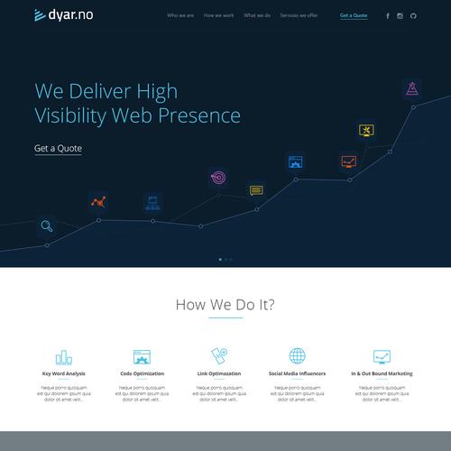 Design finalista por Web2byte